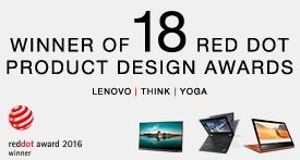 Lenovo scoops a record 18 Red Dot Design Awards